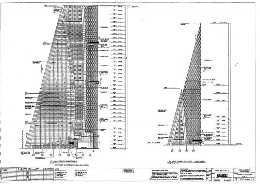 الواجهة الشّرقيّة 1024x723 - مركز التجارة العالمي في البحرين