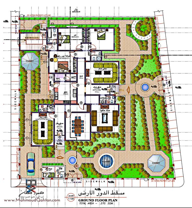 Ground Floor المسقط الأفقي للدور الأرضي e1451387120450 - مسكن خاص في نجران