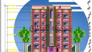 Photo of واجهة عمارة خمسة أدوار Five Story Building