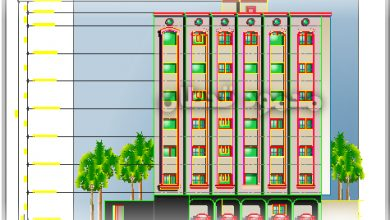 Photo of واجهة عمارة ستة أدوار Elevation Six Story Building