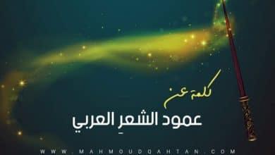 Photo of كلمة عن عمود الشعر العربي