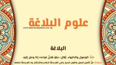 Photo of علوم البلاغة: البلاغة