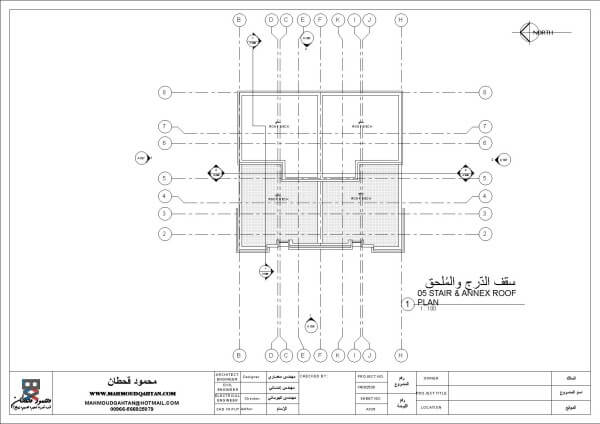 STAIR & ANNEX ROOF PLAN