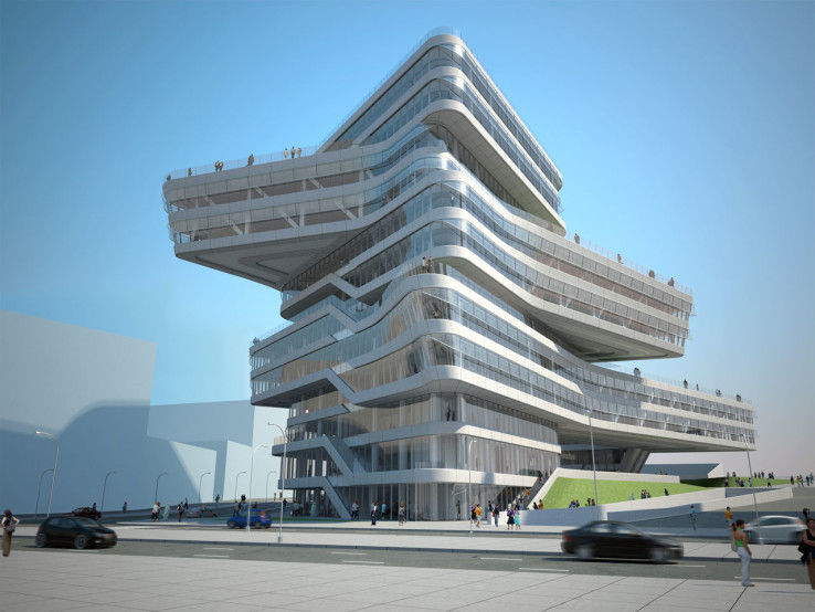 البرج اللّولبي المُتصاعد في برشلونة