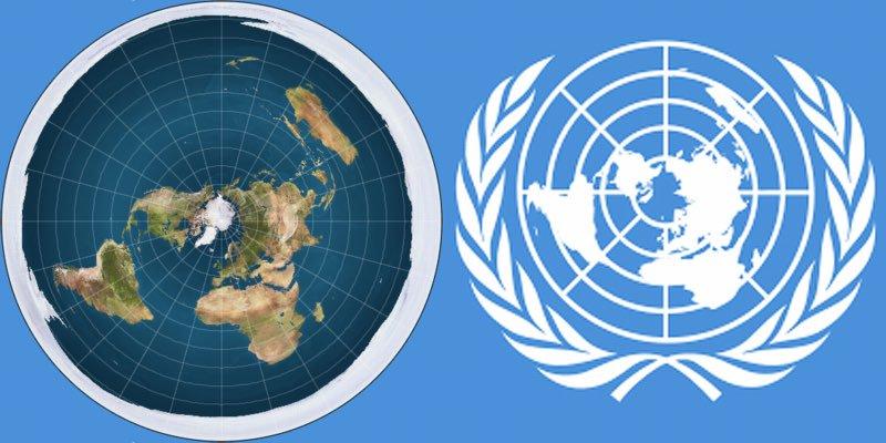 استخدام الأمم المُتّحدة خارطة الأرض المُسطّحة