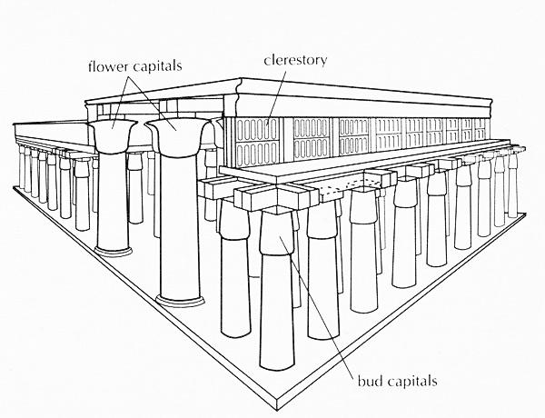 hypostyle hall reconstruction1328828848520 min - العمارة المصرية القديمة